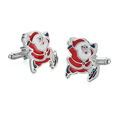 Personalized Stainless Steel Custom Christmas Cufflinks