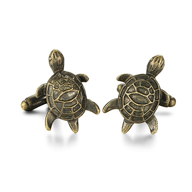 Antique Silver Green Tortoise Turtle Cuff Links Fashion Men Shirt Cufflinks
