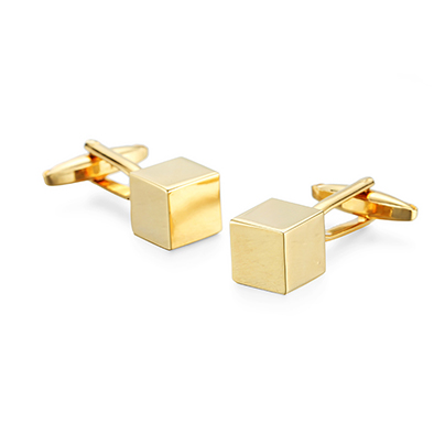 Classic Square Cufflinks For Men Custom Silver Gold Simple Style Business Shirt Cuff Button High Quality Factory Price