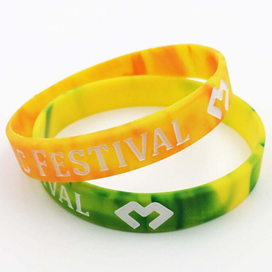 custom woven rubber silicone bracelet wristband for sale